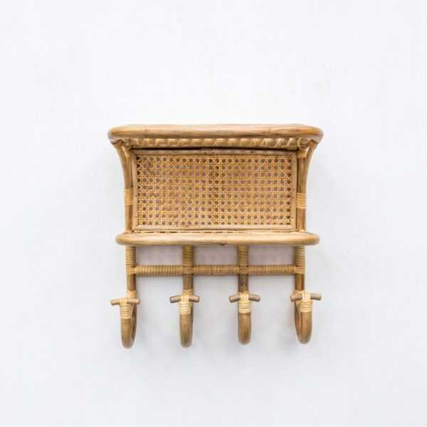 Lily Rattan Shelves with Hooks